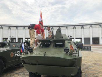 Московские юнармейцы дали старт бронепробегу по городам России
