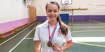 «Урок с чемпионом»: двукратная чемпионка мира по фитнес-аэробике встретилась со столичными школьниками